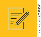 vector edit file icon | Shutterstock .eps vector #429523846