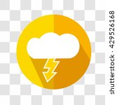 cloud and lightning icon....
