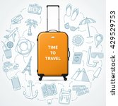 time to travel. planning of... | Shutterstock .eps vector #429529753