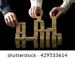 teamwork and collaboration  ... | Shutterstock . vector #429533614