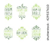 farm product labels. suitable... | Shutterstock .eps vector #429537610