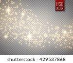 vector gold glitter wave... | Shutterstock .eps vector #429537868