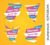 set of discount stickers.... | Shutterstock .eps vector #429538144