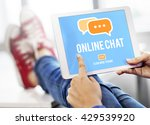 online communication chat... | Shutterstock . vector #429539920