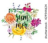 Colorful Bouquet With Succulen...