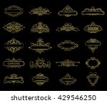 wicker lines and old decor... | Shutterstock .eps vector #429546250