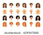 set of girls avatars profile... | Shutterstock . vector #429547000