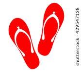 beach slippers icon | Shutterstock .eps vector #429547138