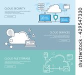 cloud services banner line web... | Shutterstock .eps vector #429547330