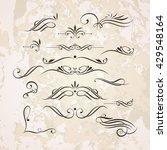 vector set of elegant curls and ... | Shutterstock .eps vector #429548164