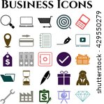 25 icon set. business icons.... | Shutterstock .eps vector #429550279
