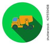 icon of concrete mixer truck ....