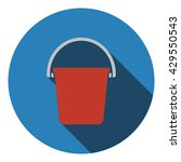 icon of bucket. flat design....