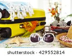 ready vacation suitcase ... | Shutterstock . vector #429552814