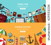 travel time. summer vacation.... | Shutterstock .eps vector #429553234