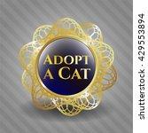 adopt a cat gold emblem or badge | Shutterstock .eps vector #429553894