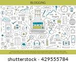 blogging and social media hand... | Shutterstock .eps vector #429555784