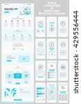 one page website and mobile... | Shutterstock .eps vector #429556444