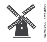 windmill icon vector... | Shutterstock .eps vector #429558604