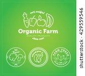 vector organic farm line logos  ... | Shutterstock .eps vector #429559546