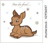 deer illustration | Shutterstock .eps vector #42956047