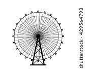 ferris wheel silhouette  circle.... | Shutterstock .eps vector #429564793