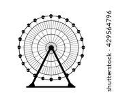 ferris wheel silhouette  circle.... | Shutterstock .eps vector #429564796