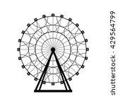 ferris wheel silhouette  circle.... | Shutterstock .eps vector #429564799