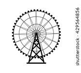 ferris wheel silhouette  circle.... | Shutterstock .eps vector #429564856