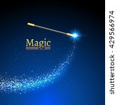 Magic Wand Vector Background....