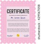 certificate template eps10 jpg...   Shutterstock .eps vector #429567058