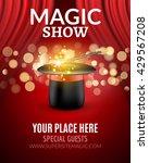 magic show poster design... | Shutterstock .eps vector #429567208