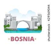 bosnia and herzegovina country... | Shutterstock .eps vector #429569044