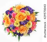 Colorful Rose Bouquet With...