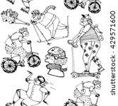 old people sport. woman... | Shutterstock .eps vector #429571600