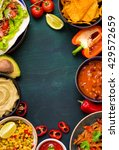 mixed mexican food background.... | Shutterstock . vector #429572659