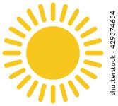 yellow gold sun icon isolated... | Shutterstock .eps vector #429574654