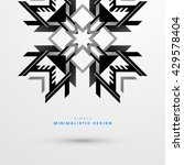 geometric vector background.... | Shutterstock .eps vector #429578404