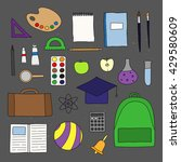 hand drawn school and... | Shutterstock .eps vector #429580609