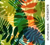 seamless tropical vector... | Shutterstock .eps vector #429580978