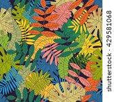 seamless tropical vector... | Shutterstock .eps vector #429581068