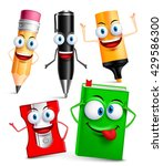 vector character of school... | Shutterstock .eps vector #429586300