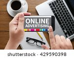 online advertising message on...   Shutterstock . vector #429590398