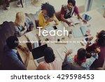 teach teaching education... | Shutterstock . vector #429598453