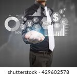 businessman with financial... | Shutterstock . vector #429602578