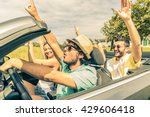 group of friends having fun at... | Shutterstock . vector #429606418