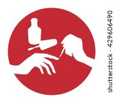 nail polish vector icon ... | Shutterstock .eps vector #429606490