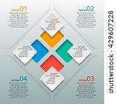 vector abstract 3d paper... | Shutterstock .eps vector #429607228