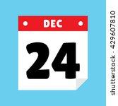 calendar icon flat december 24