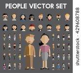 diversity community people flat ... | Shutterstock .eps vector #429608788